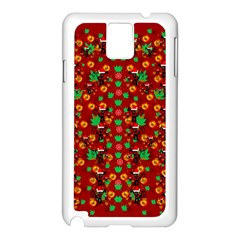 Christmas Time With Santas Helpers Samsung Galaxy Note 3 N9005 Case (white) by pepitasart