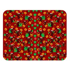 Christmas Time With Santas Helpers Double Sided Flano Blanket (large)