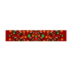 Christmas Time With Santas Helpers Flano Scarf (mini) by pepitasart