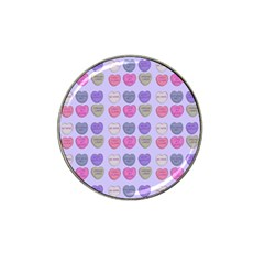 Valentine Hearts Lilac Hat Clip Ball Marker