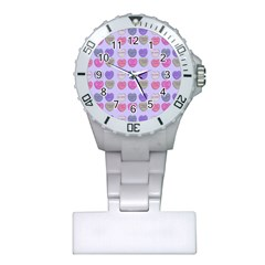 Valentine Hearts Lilac Plastic Nurses Watch by snowwhitegirl