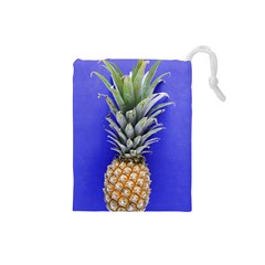 Pineapple Blue Drawstring Pouch (small)