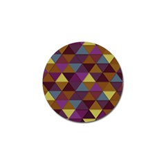 Fall Geometric Pattern Golf Ball Marker