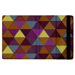 Fall Geometric Pattern Apple Ipad 2 Flip Case