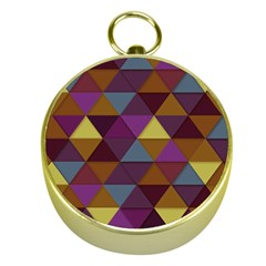 Fall Geometric Pattern Gold Compasses by snowwhitegirl