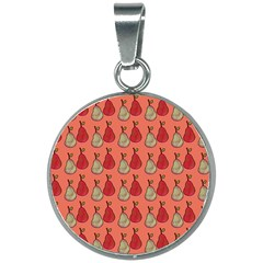 Pears Red 20mm Round Necklace by snowwhitegirl