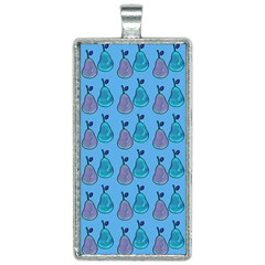 Pears Aqua Rectangle Necklace