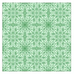 Ornamental Green Large Satin Scarf (square) by snowwhitegirl