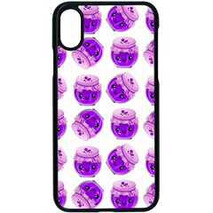 Kawaii Grape Jam Jar Pattern Apple Iphone X Seamless Case (black) by snowwhitegirl