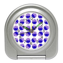 Kawaii Blueberry Jam Jar Pattern Travel Alarm Clock by snowwhitegirl