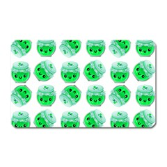 Kawaii Lime Jam Jar Pattern Magnet (rectangular) by snowwhitegirl