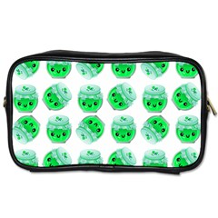 Kawaii Lime Jam Jar Pattern Toiletries Bag (one Side)