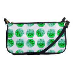 Kawaii Lime Jam Jar Pattern Shoulder Clutch Bag by snowwhitegirl