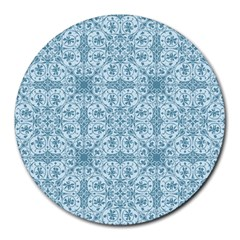 Ornamental Blue Round Mousepads by snowwhitegirl