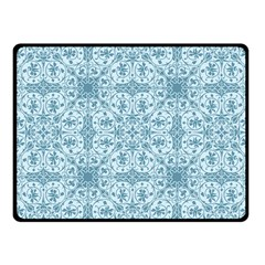 Ornamental Blue Fleece Blanket (small) by snowwhitegirl