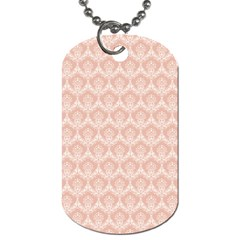 Damask Peach Dog Tag (two Sides)
