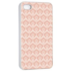 Damask Peach Apple Iphone 4/4s Seamless Case (white)
