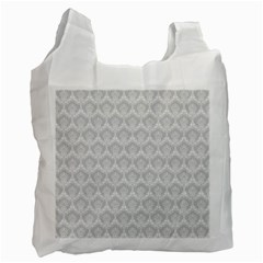 Damask Grey Recycle Bag (one Side) by snowwhitegirl