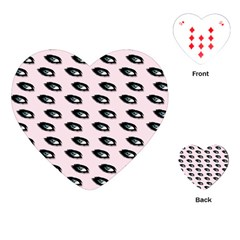 Eyes Pink Playing Cards (heart) by snowwhitegirl