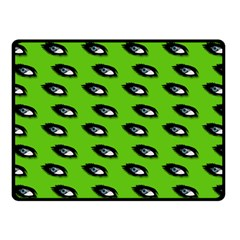 Eyes Green Fleece Blanket (small) by snowwhitegirl
