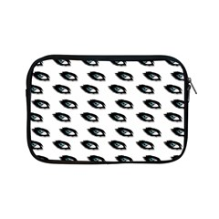 Eyes White Apple Ipad Mini Zipper Cases by snowwhitegirl