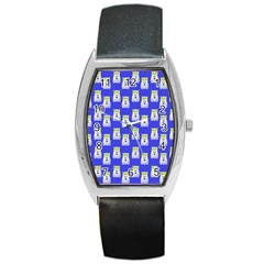 Ghost Pet Blue Barrel Style Metal Watch by snowwhitegirl