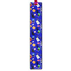 Halloween Treats Pattern Blue Large Book Marks