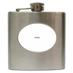 Moon Shine Over Planet Earth In Peace Hip Flask (6 Oz)