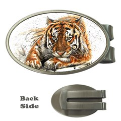 Tiger Sign Money Clips (oval)  by kostart