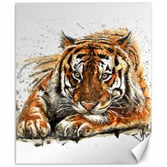 Tiger Sign Canvas 8  X 10  by kostart