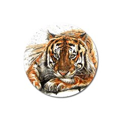Tiger Sign Magnet 3  (round) by kostart
