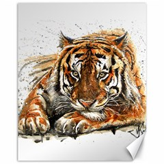 Tiger Sign Canvas 11  X 14  by kostart