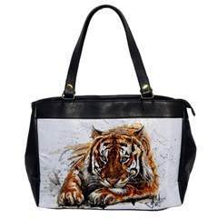 Tiger Sign Oversize Office Handbag
