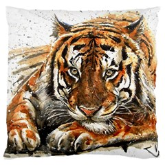 Tiger Sign Large Cushion Case (two Sides)