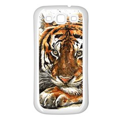 Tiger Sign Samsung Galaxy S3 Back Case (white)