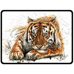 Tiger Sign Double Sided Fleece Blanket (large)  by kostart