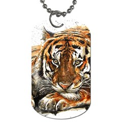 Tiger Sign Dog Tag (two Sides)