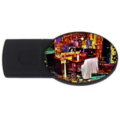 Painted House Usb Flash Drive Oval (2 Gb)