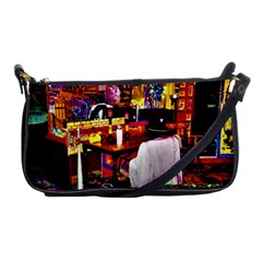 Painted House Shoulder Clutch Bag