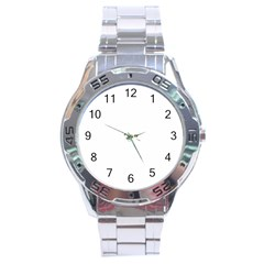 Christmas Birds Pattern Stainless Steel Analogue Watch