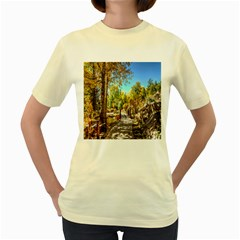 Landscape # 2 The Path Women s Yellow T Shirt