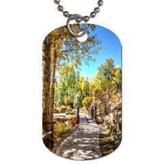 Landscape # 2 The Path Dog Tag (two Sides)