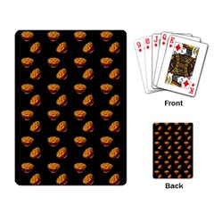 Kawaii Chips Black Playing Cards Single Design by snowwhitegirl