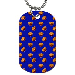 Kawaii Chips Blue Dog Tag (two Sides)