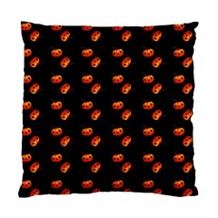 Kawaii Pumpkin Black Standard Cushion Case (one Side)
