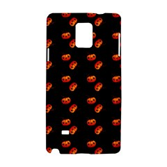 Kawaii Pumpkin Black Samsung Galaxy Note 4 Hardshell Case