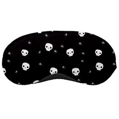 Pattern Skull Stars Halloween Gothic On Black Background Sleeping Masks