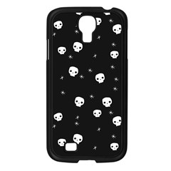 Pattern Skull Stars Halloween Gothic On Black Background Samsung Galaxy S4 I9500/ I9505 Case (black)