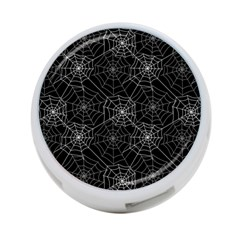 Pattern Spiderweb Halloween Gothic On Black Background 4 Port Usb Hub (two Sides)