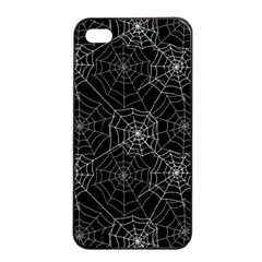 Pattern Spiderweb Halloween Gothic On Black Background Apple Iphone 4/4s Seamless Case (black) by MAGA